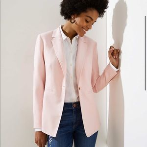 LOFT pink Lightweight Modern Blazer